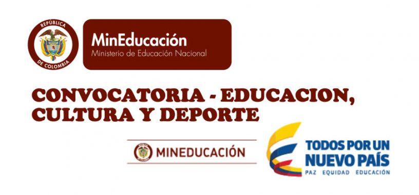 Convocatoria educaci n cultura y deporte ministerio de for Convocatoria docentes 2016 ministerio de educacion