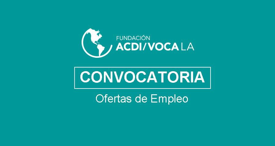 Empleo en Fundación ACDI/VOCA