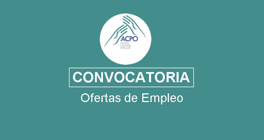 Fundación ACPO requiere profesionales