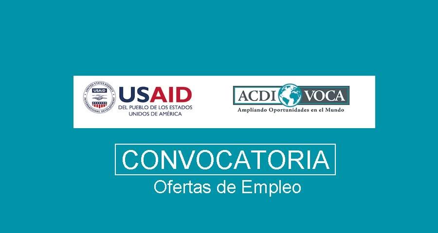 ACDI/VOCA requiere profesionales