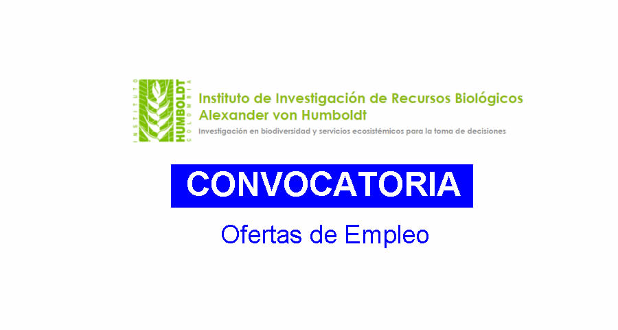 Convocatorias en Instituto Humboldt