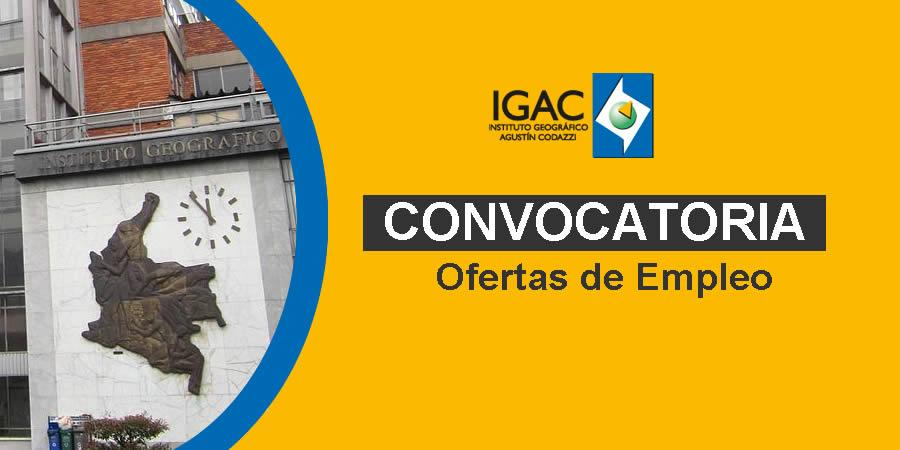 IGAC requiere profesionales